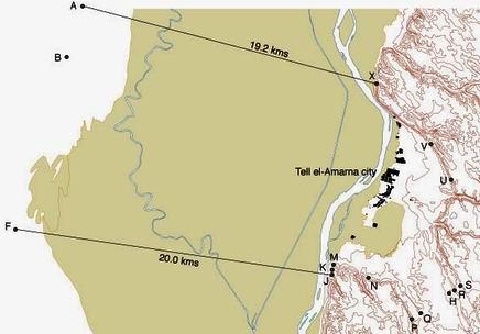 Владения Амарны с пограничными стелами