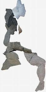 Скульптурная композиция царской четы (вид сбоку)