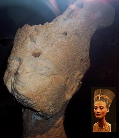 Известняковая голова Нефертити-3а, возможный прототип бюста Нефертити-3