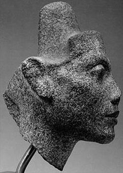Голова Нефертити-1 в зрелом возрасте (профиль)
