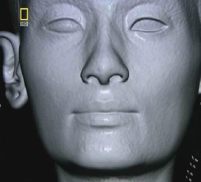 Гипсовая штукатурка бюста Нефертити-3