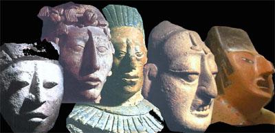 Скульптурные лики американских индейцев