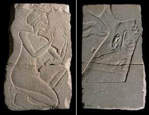 Лицевая и оборотная сторона блока с Нефертити-12