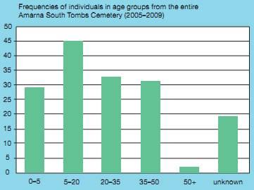 Распределение смертности жителей Амарны