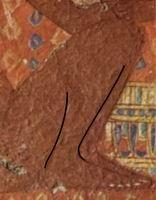 Прорисовка ноги (фрагмент подлинника)
