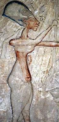 Эхнатон. Фрагмент иконы с двумя дочками