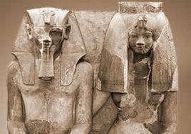 Супруги Аменхотеп III и Тия