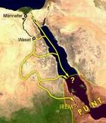 3) страна Пунт и пути следования египетских кораблей