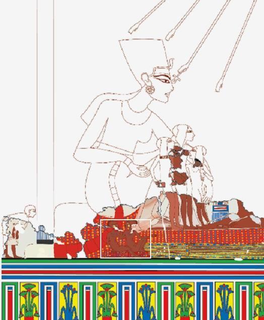 Реконструкция части настенной росписи