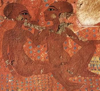Две дочери Нефертити и Эхнатона (подлинник)
